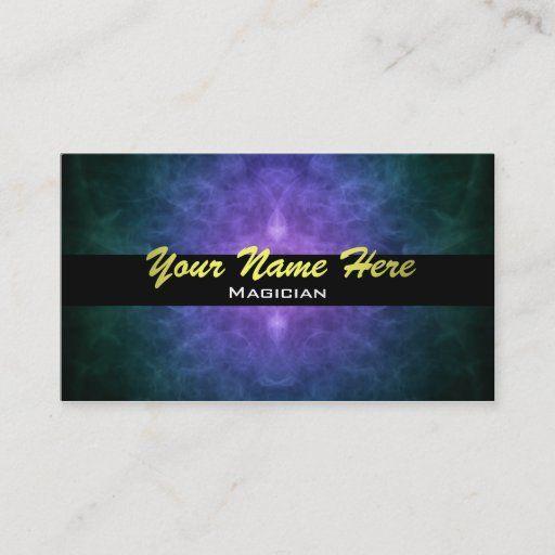 Magician Business Cards Zazzle Com The Magicians Spiritual Business Card Colorful Business Card
