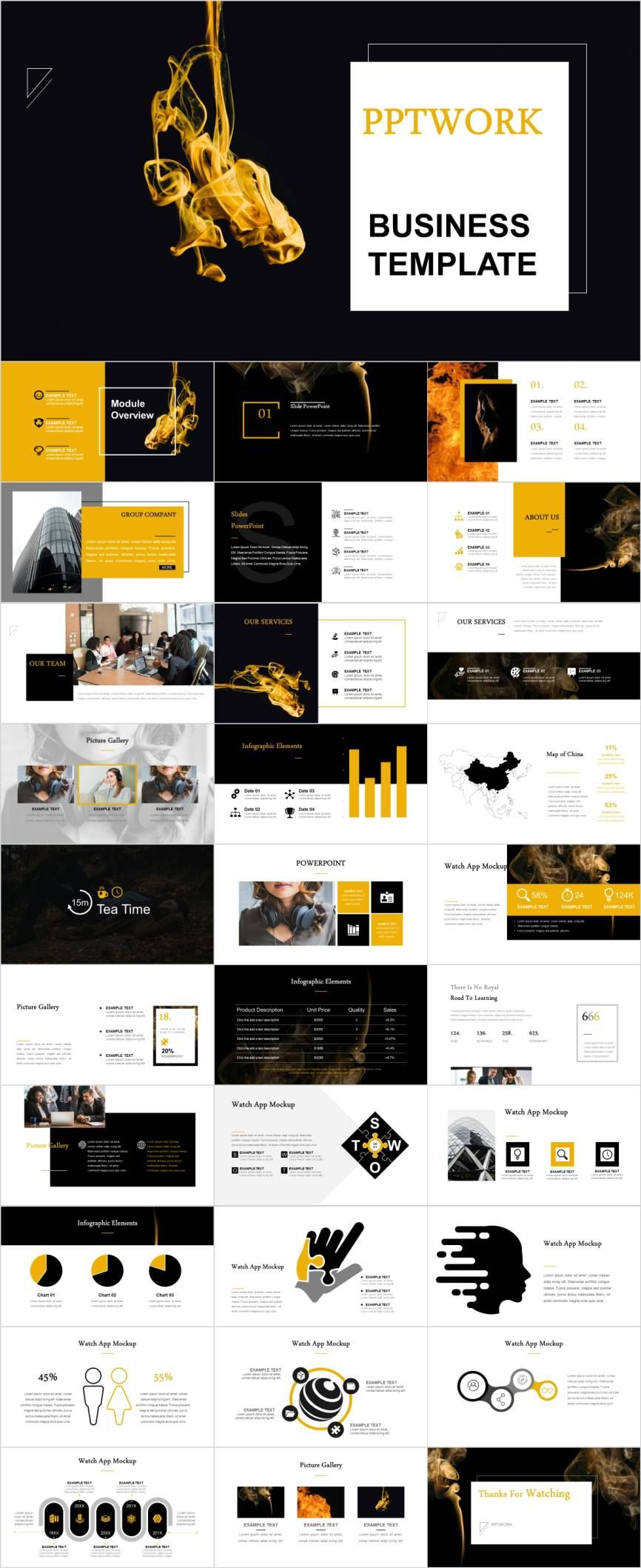 Business Design Swot Analysis Powerpoint Template Pcslide Com