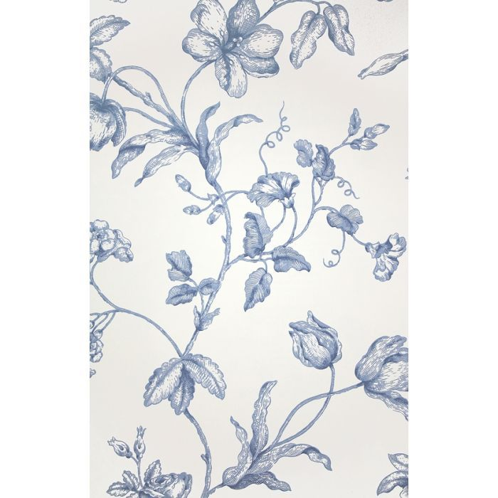 Samantha's Bouquet Toile Wallpaper Toile wallpaper