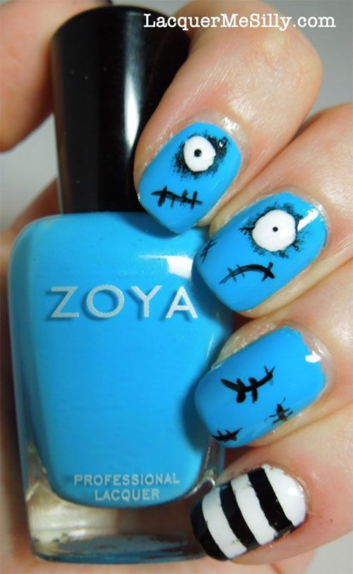 Lovely Nail Designs Scary Halloween Nail Art Designs Ideas