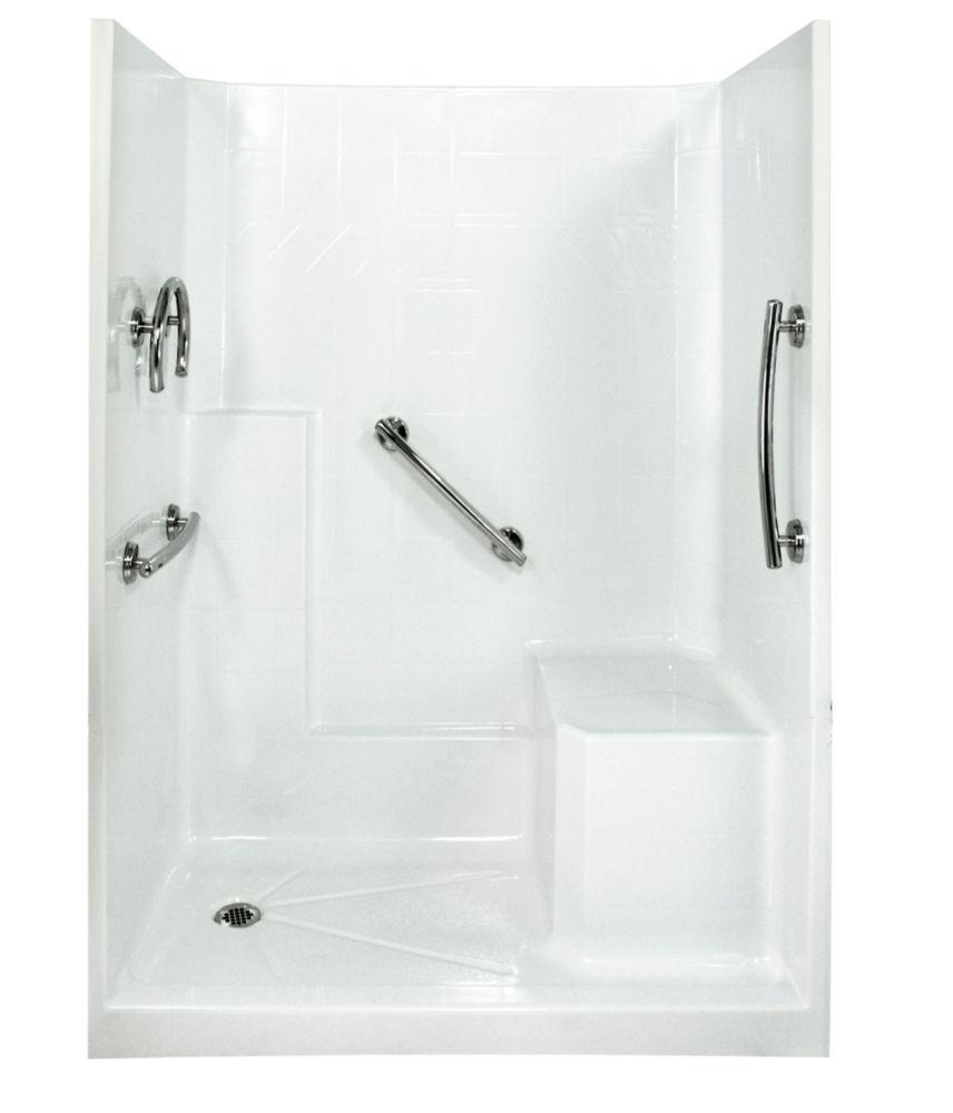 Freedom 32 Inch X 60 Inch X 77 Inch 3 Piece Shower Stall In White Shower Wall Kits Shower Stall Alcove Shower Kits