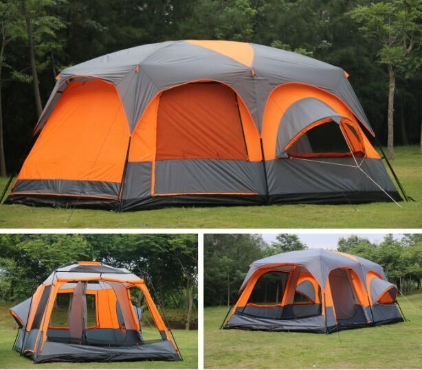 6 8 10 12 Person 2 Bedroom 1 Living Room Awning Sun Shelter Party Family Tent Camping Best Tents For Camping Tent Camping