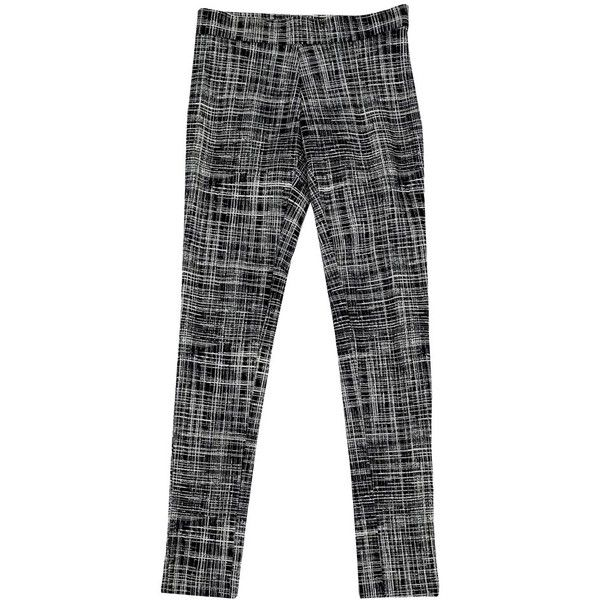 Pre-owned Theory Adelle Black & White Print Pants (€80) ❤ liked on Polyvore featuring pants, black, pull on skinny pants, theory pants, patterned pants, pull on pants and black and white patterned pants