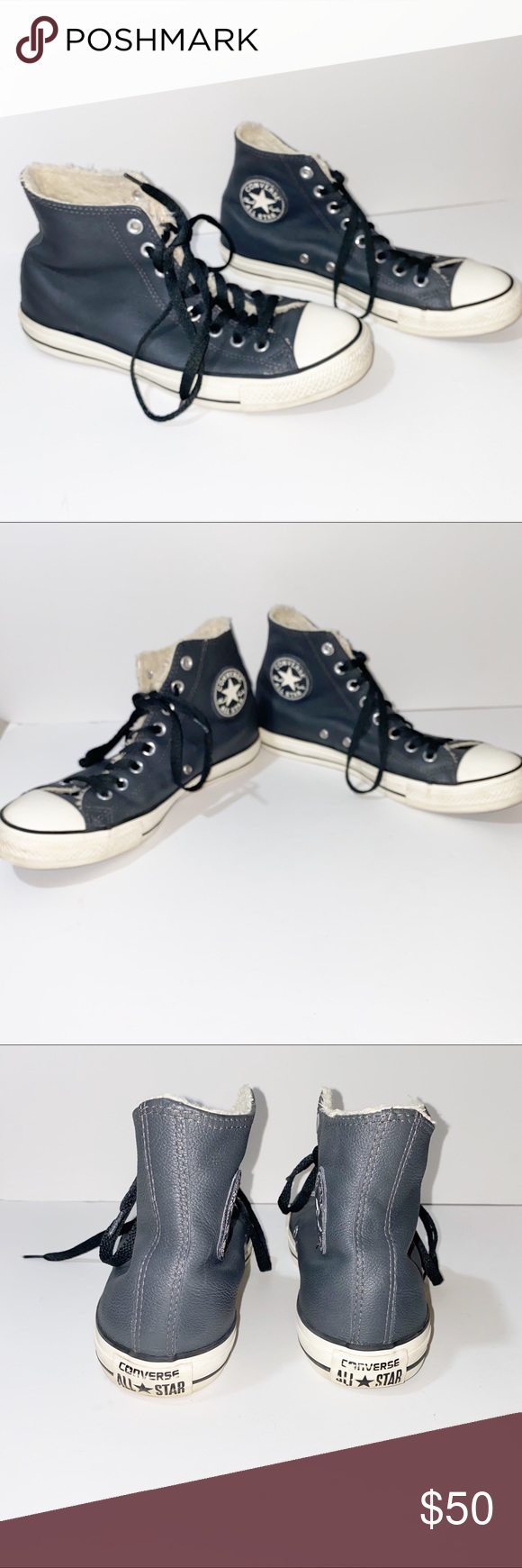 Converse All Stars Black Leather High