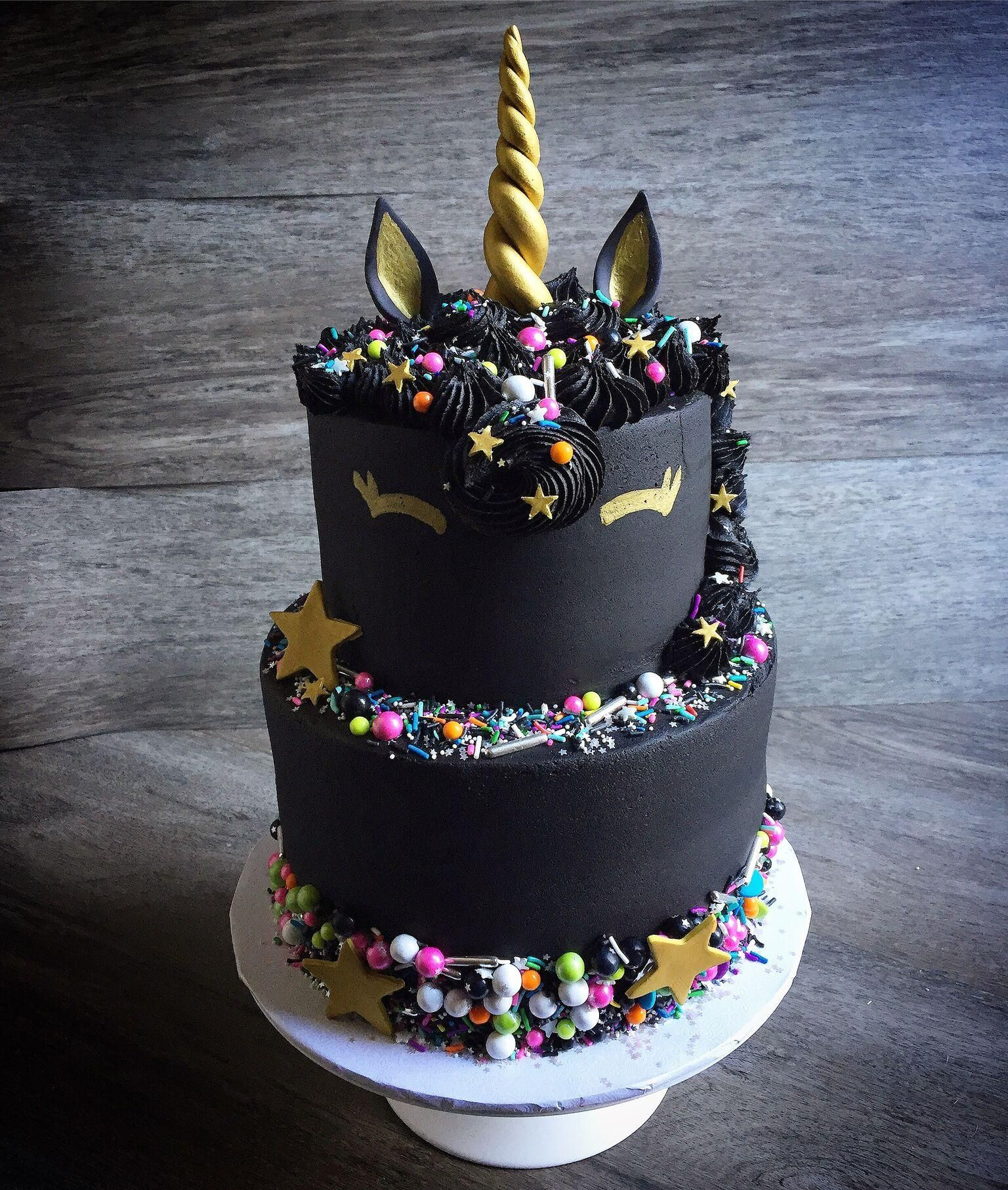 Image Result For Black Unicorn Cake