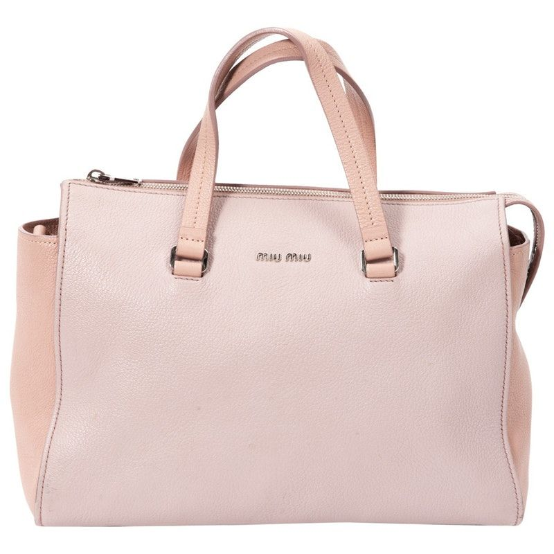 a833c5000d46 pink Plain Leather MIU MIU Handbag - Vestiaire Collective
