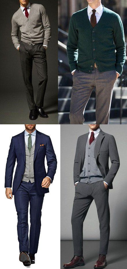 How To Wear A Cardigan Sweater With Style Mens Outfits Mens Clothing Styles Suits