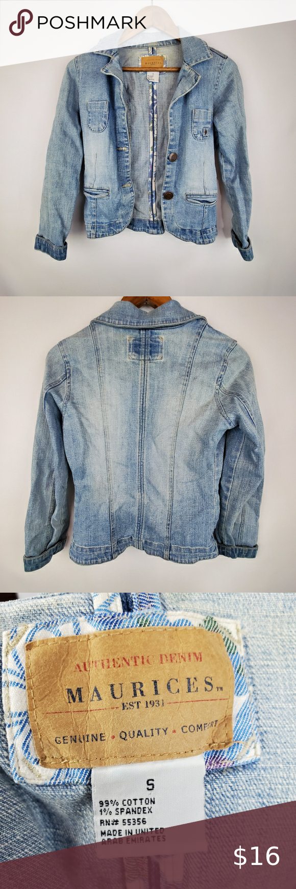 Maurices White Wash Jean Jacket Clothes Design Washed Jean Jacket Fashion [ 1740 x 580 Pixel ]