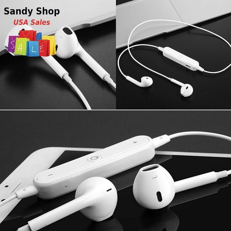 Details about Sport Neckband Style Headphones Earbuds With