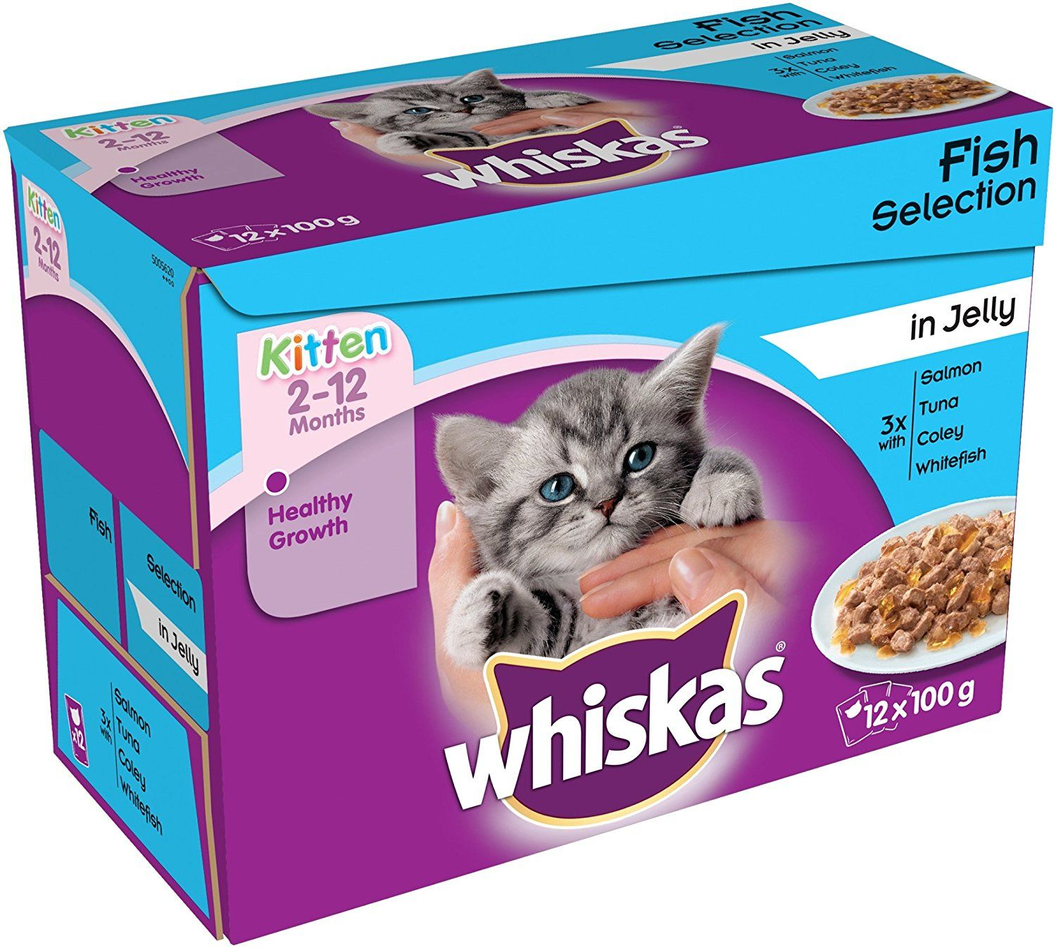 Whiskas Pouch Kitten Fish Selection In Jelly 12x100g Pack Of 4 Click Image To Read More Details Catfood