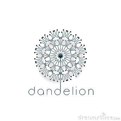 Dandelion Symbol Dandelion Designs Dandelion Blog Logo Inspiration
