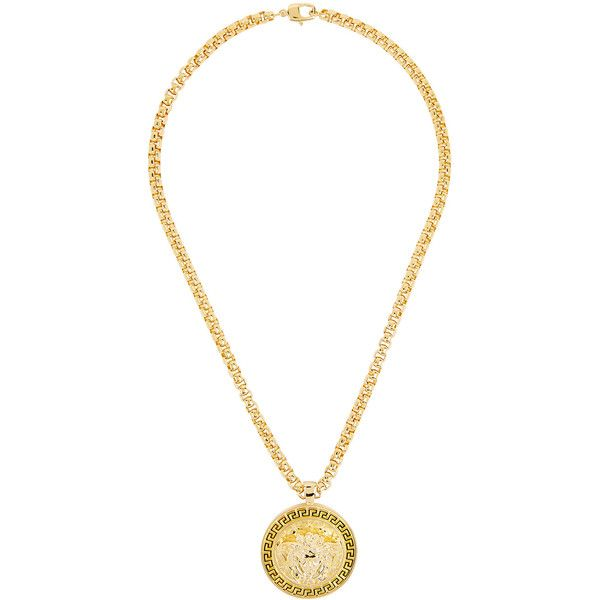 Versace Gold Tone Chain Necklace 1795 ILS liked on Polyvore