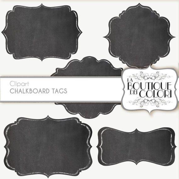 Clip Art Chalk Borders Frames Labels tags Digital Frames Digital ...