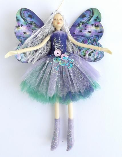 2013 Nz Christmas Teal Blue Paua Shell Fairy Doll From Shopnz Com Fairy Dolls Dolls Fairy