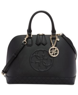 c2e05e2d703a6 GUESS Korry Dome Satchel - Handbags  amp  Accessories - Macy s Black Satchel