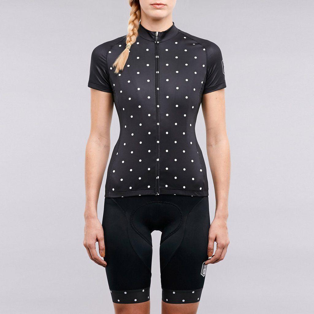 Women s polka dot cycling jersey  797af4d58