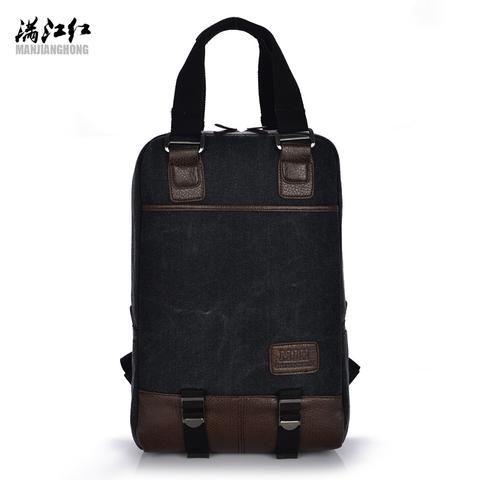 [EBay] Manjianghong Canvas Backpack Travel Schoolbag Male 16 Inch Laptop Backpack Men Large Capacity Rucksack Laptop Rucksack Bag 1210