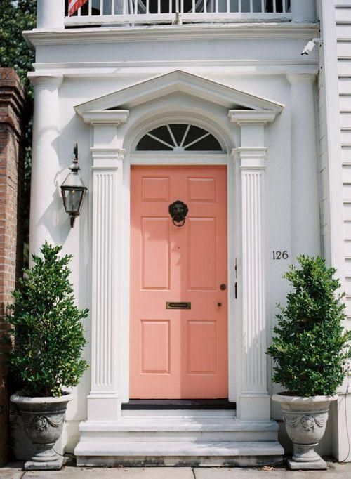 How To Curate A Show Stopping Front Door Coral Door Coral Front Doors Front Door