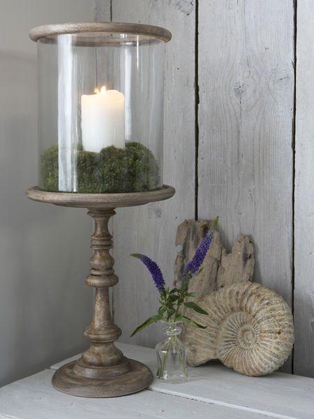 Danish Wooden Hurricane Lamp, Large Decorative Hurricane Lamps