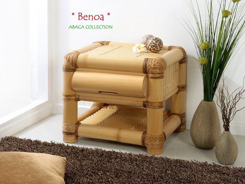BENOA Bambus Nachtkonsole - Nachttisch   ABACA COLLECTION