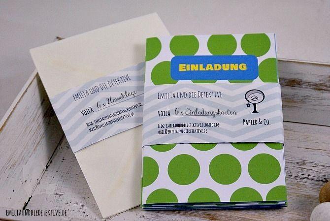 6 Einladungskarten (Geburtstag, Party) Von Emilia Und Die Detektive Auf  DaWanda.com