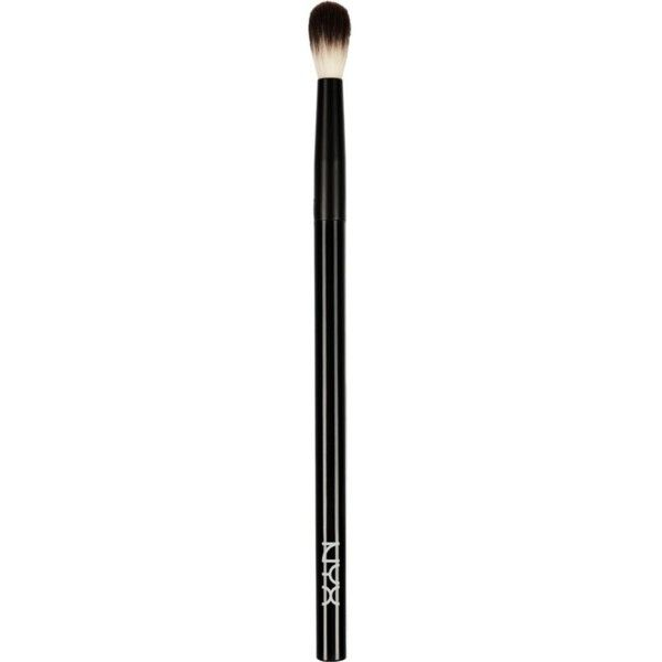 NYX COSMETICS Pro blending brush ($12) ❤ liked on Polyvore featuring beauty products, makeup, makeup tools, makeup brushes, nyx, nyx makeup brushes, blending brush, makeup blending brush and blender brush