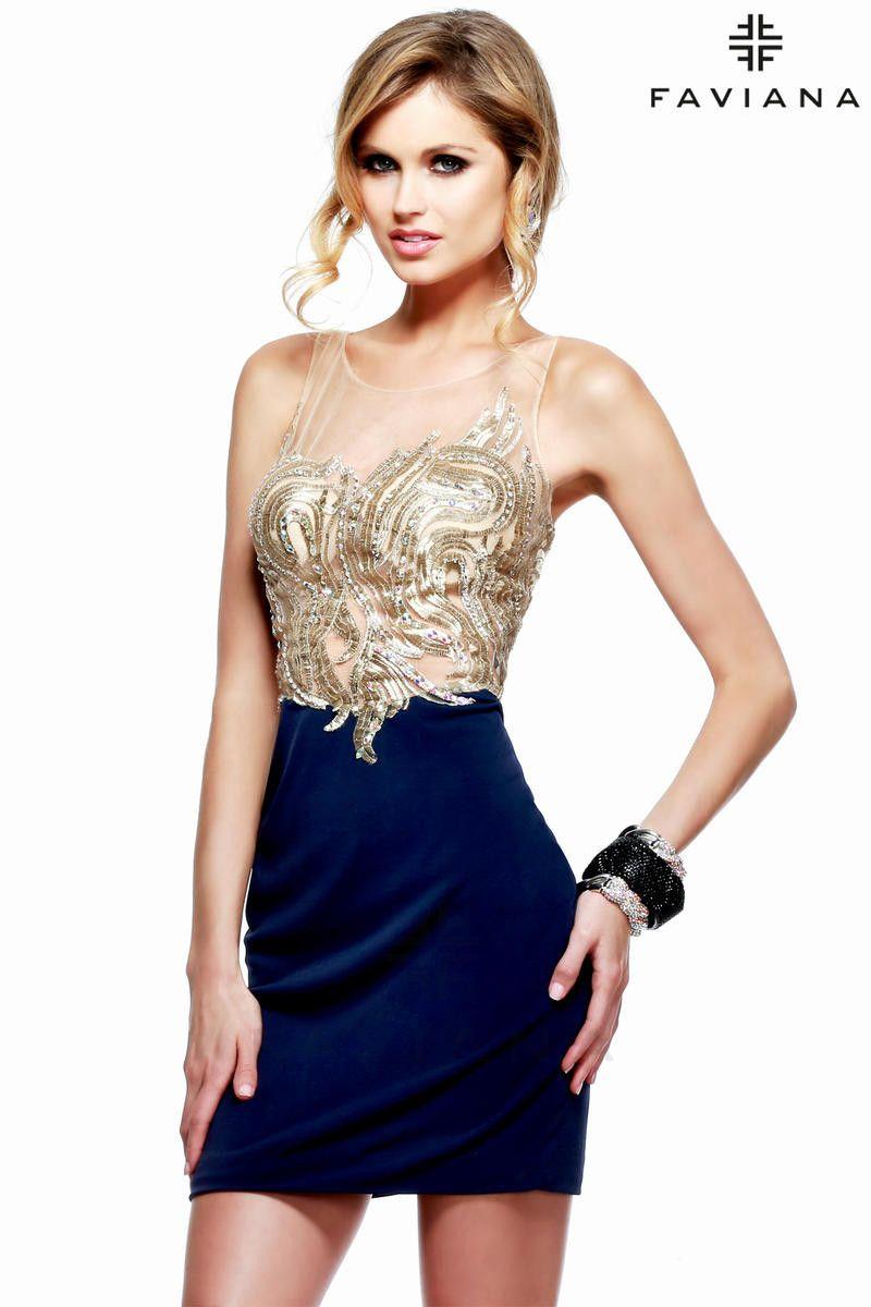 Jersey gold illusion bust faviana glamour dresses pinterest