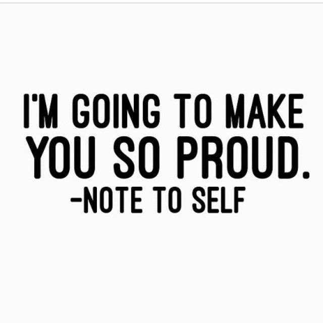 Do it for yourself.