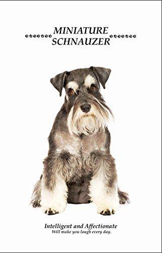 "Miniature Schnauzer Dog Hard Cover Notebook Gift - 8.5"" x 6"" Matt Laminated Notebook / Journal - 240 pages Notebooks http://www.amazon.co.uk/dp/B015N9MCQM/ref=cm_sw_r_pi_dp_WORewb18YF4MC"
