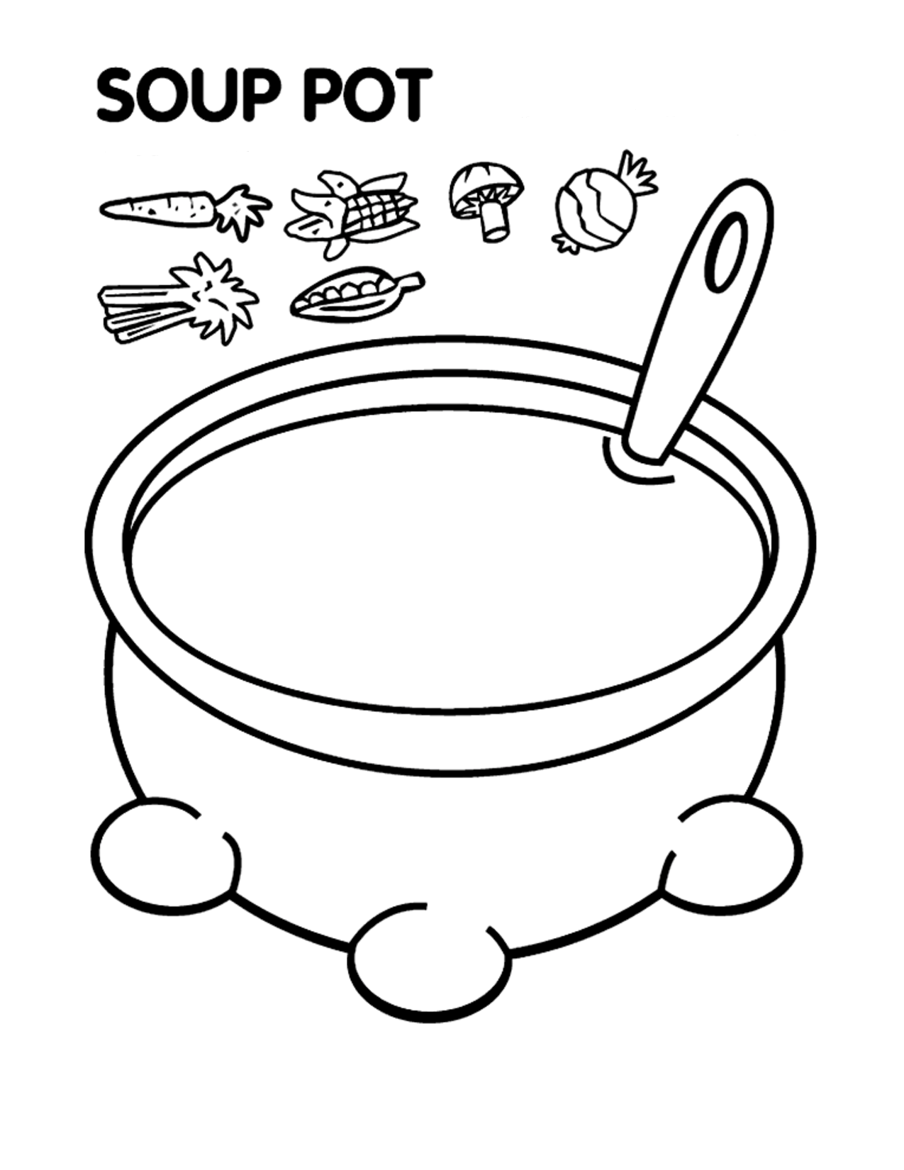 Coloring Rocks Stone Soup Preschool Food Coloring Pages