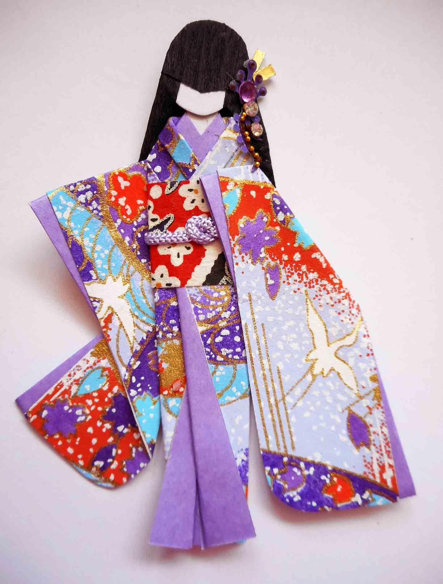 Japanese origami doll 4. | Japanese origami paper dolls ... - photo#24