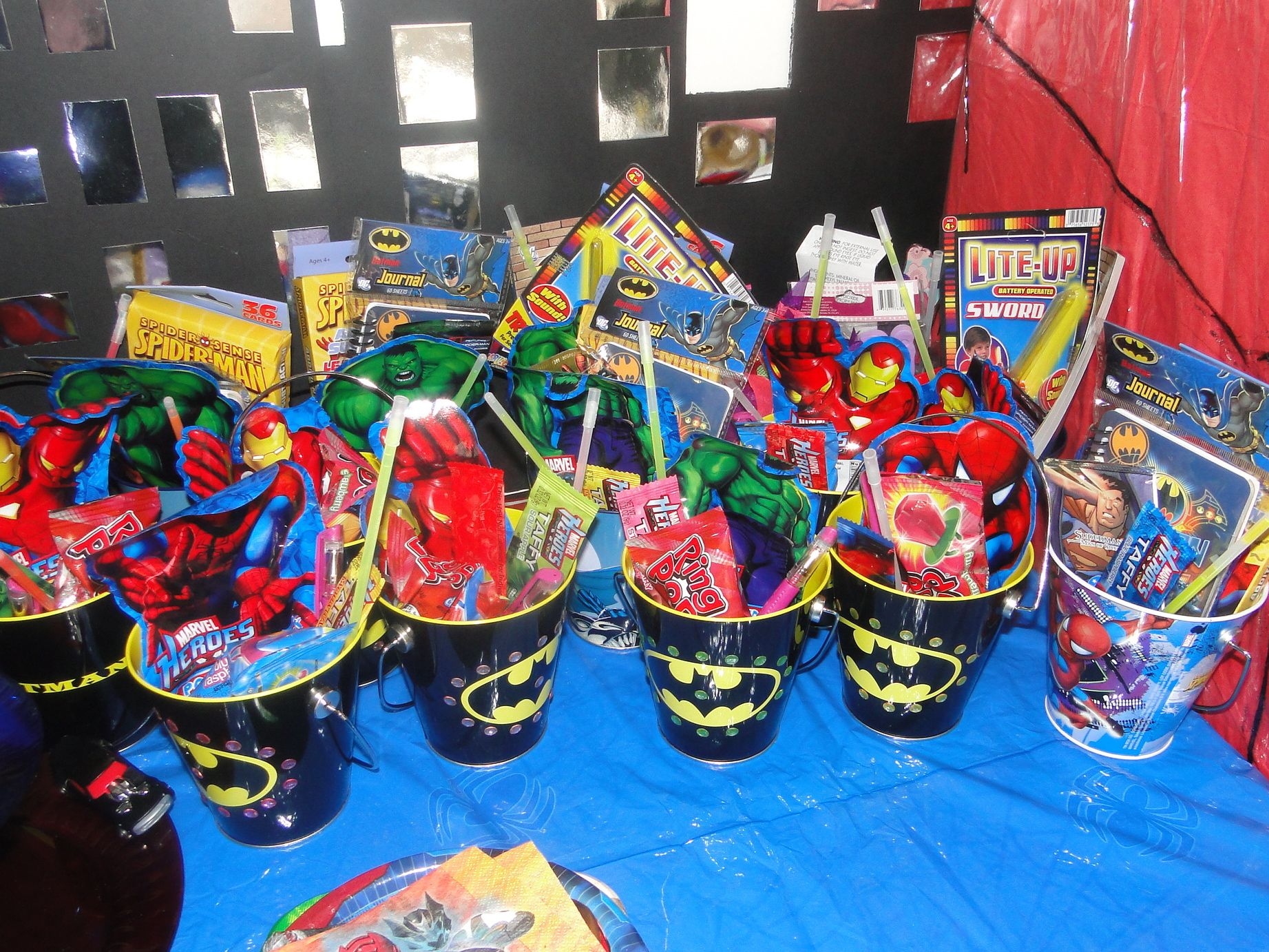 Party Favor For The Superhero Buckets Via Target And Most Items From