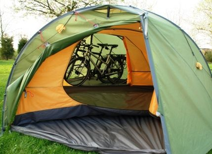 Bikes in the vestibule! & Bikes in the vestibule! | Tent Love: Exped Venus III DLX Plus ...