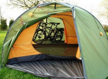 Bikes in the vestibule! & Bikes in the vestibule! | Tent Love: Exped Venus III DLX Plus ...