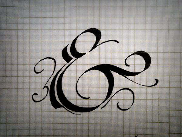 Remarkable examples of hand lettered calligraphy type