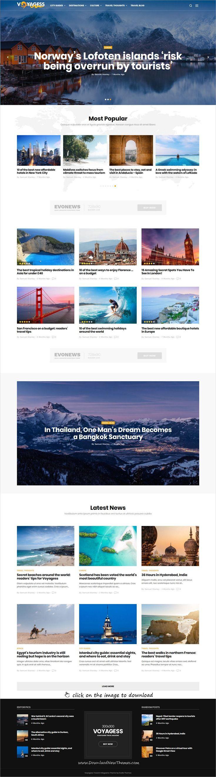 Evonews News Magazine WordPress Theme Pinterest