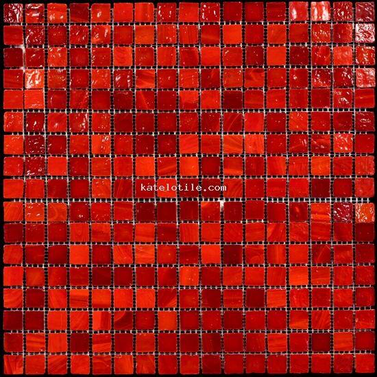 Murano Red Pepper Glass MosaicGlass Tile Mosaic Backsplash Tiles