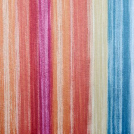 Watercolor-like brush strokes vertically spill down this cotton poly blend. Suitable for light upholstery, window treatments, pillows and more.
