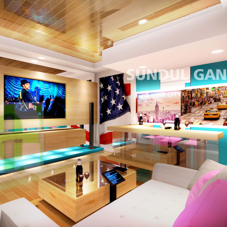 Semicircular Ktv Room Interior Design: Interior Design Color, Design