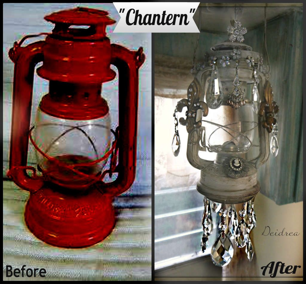 Light Fixture For Vintage Camper: Re~purposed Lantern Into A Chatern!
