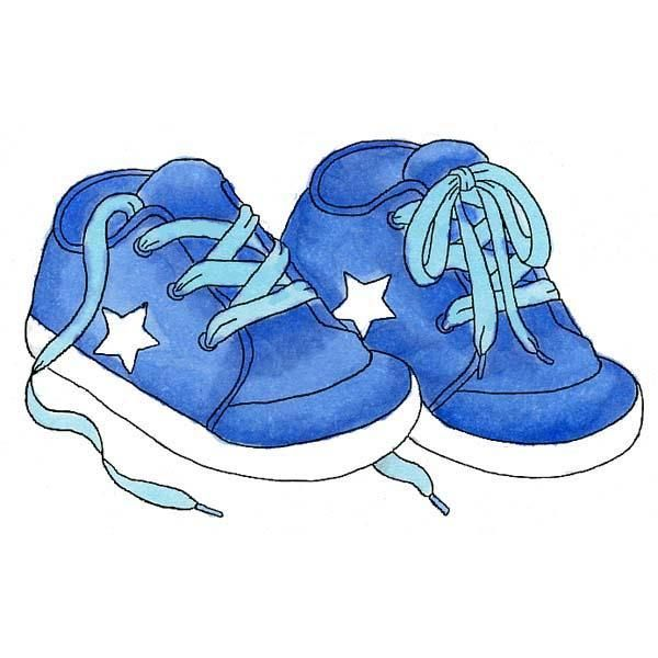 Blue Shoes Baby Art Baby Clip Art Baby Boy Scrapbook