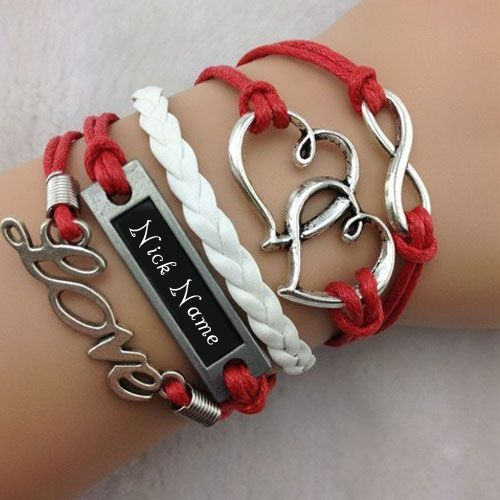 43bbc628c Write your name on Heart to Heart Bracelet picture in beautiful style. Best  app to write names on beautiful collection of Jewelry pix.