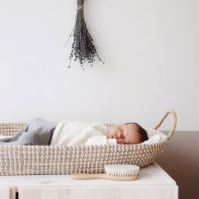 & just like that we are down to our very last baby change basket!! Next restock from Olliella won't be until May so better be quick ☺️ Search for it under Reva Basket. Store link in our bio. Adorable image @annalandstedt