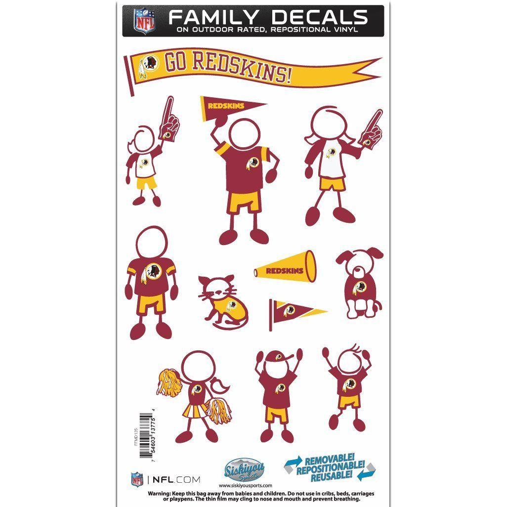 Siskiyou NFL Large Family Decal Set