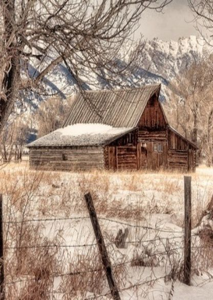 Love The Mountains Barn Fence The Whole Picture