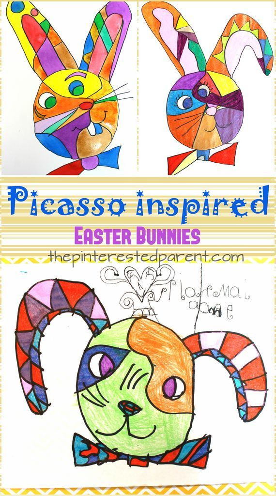 Picasso Inspired Easter Bunnies – The Pinterested Parent