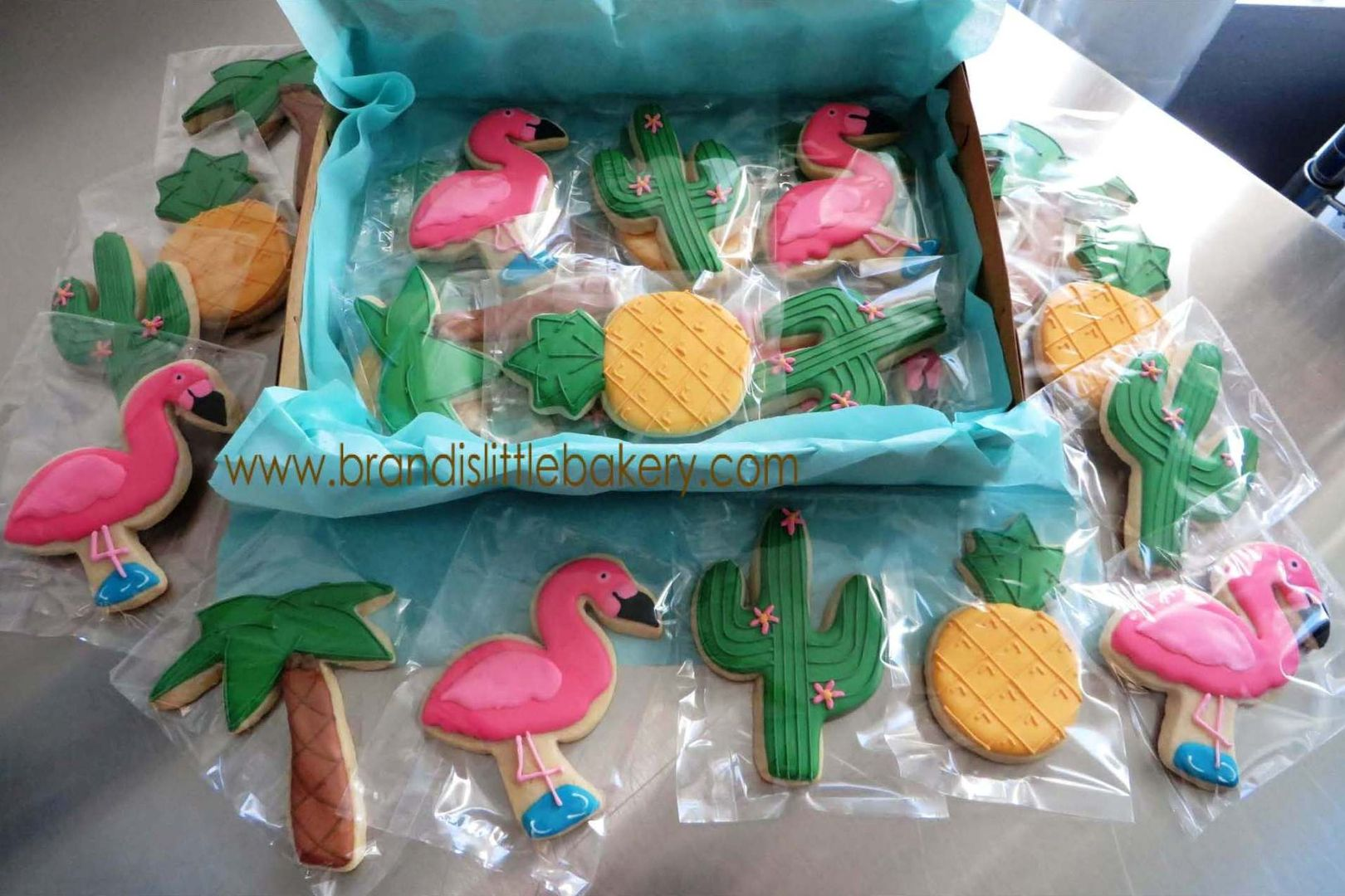 Desert/Tropical Theme Bachelorette Decorated Sugar Cookies