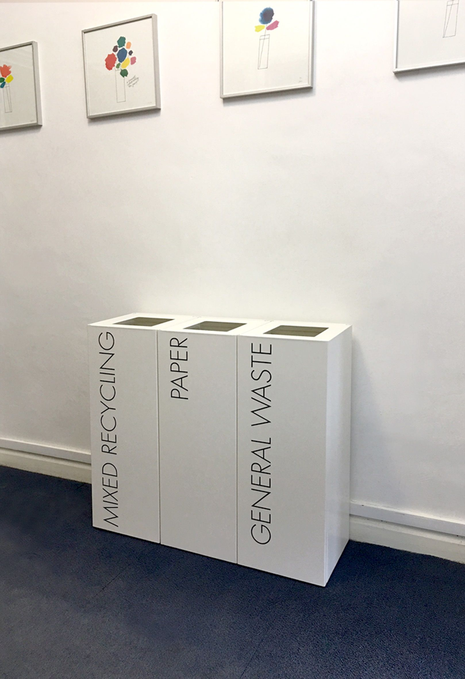 Office Recycling Bins Sorting TWO 50 Litre Square U2026