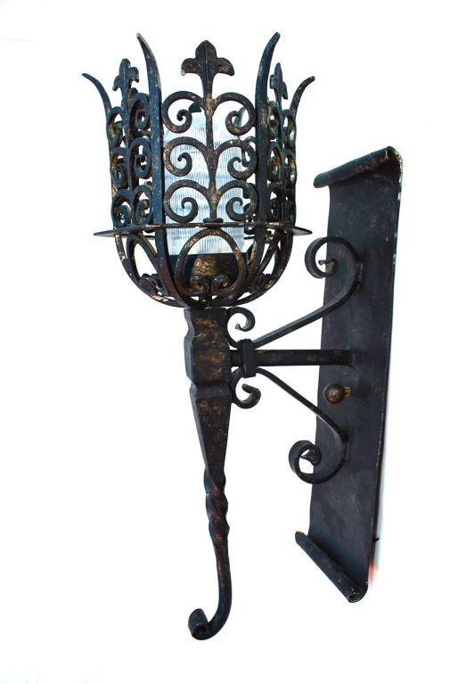 Wrought iron reproduction outdoor/indoor sconces in 2020 ... on Wrought Iron Outdoor Candle Sconces id=65123