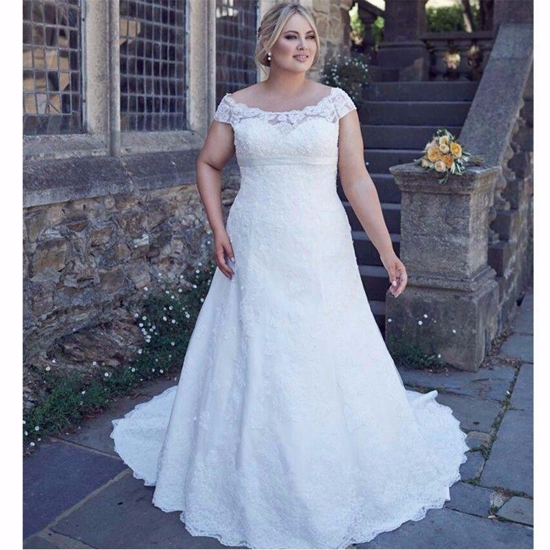 Details zu Übergröße Full Spitze Brautkleid Mantel Brautkleid Größe ...